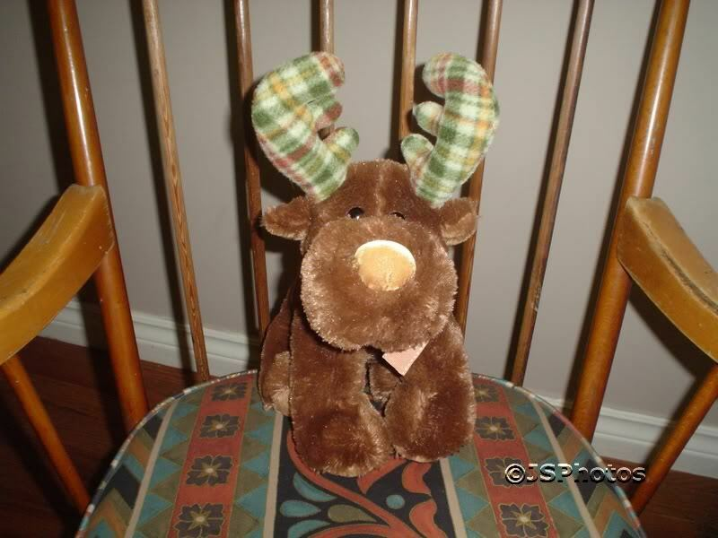 Russ Marty Moose 13in Stuffed Toy 32742 Flannel Antlers