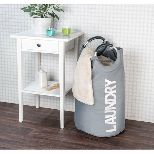 2er-Set moderne Wäschesammler mit Handgriffen 65 Liter Volumen Wäschetaschen