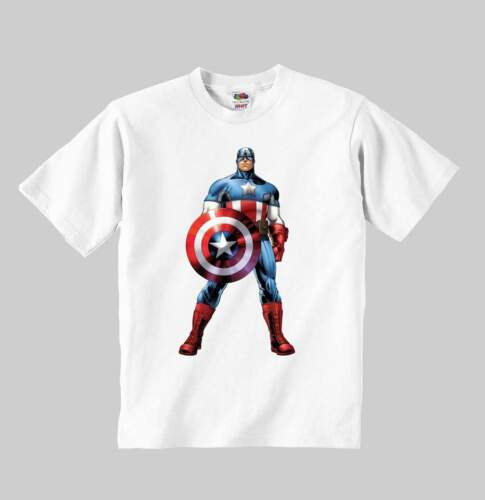 CAPTAIN AMERICA t-shirt mod:1 toddler clothing kid shirt for children size:1-8y