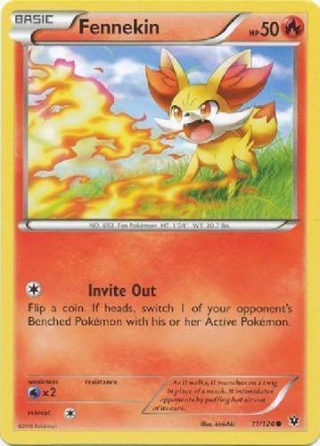 Pokemon 4X FENNEKIN 11//124 COMMON  NM CARD  FATES COLLIDE
