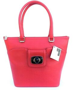Image is loading Love-MOSCHINO-Shopping-bag-eco-leather-saffiano-Red- 49a70f31311