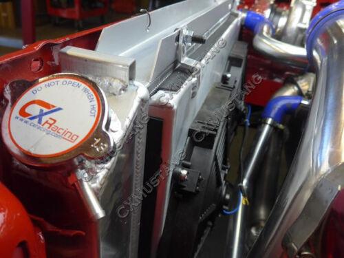 "Aluminum 3 Rows Radiator 12/"" Fans For 79-93 Ford Mustang Shroud"