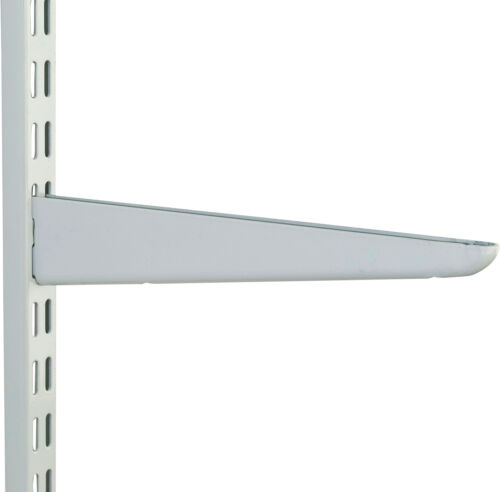 370mm White MEDIUM DUTY Twin Slot Shelving System Brackets Support Racking