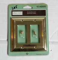 Allen Roth Double Toggle Wall Plate Polished Brass Gold Tone