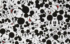 Mickey White Heads with Black Background Mickey Mouse 100/% cotton Fat Quarter Fabric Mickey Fabric Fat Quarters Quilting Cotton