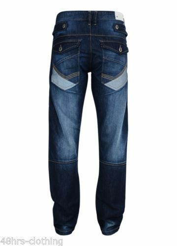 Jean Homme Rawcraft Neuf Cargo Combat Denim Pantalon Darhurst Qualité Jeans