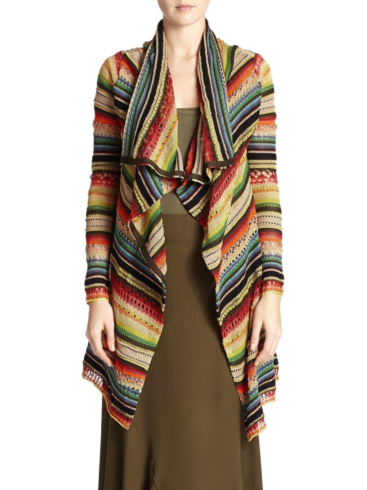 Ralph Lauren Polo Cotton Linen Serape Draped Cardigan Sweater New