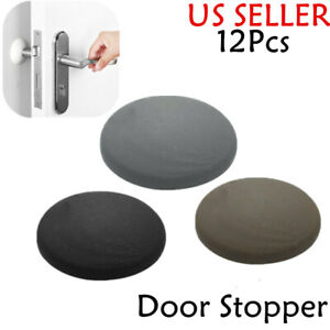 12Pcs Self Adhesive Rubber Door Stoppers Cabinet Knob Buffers Wall Protectors US