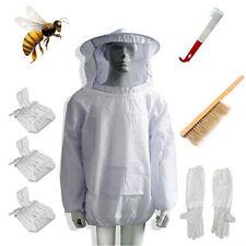 Beekeeping Suit Bee Honey Keeping Equipment Gloves Hive Brush Hook Veil Set Ah9
