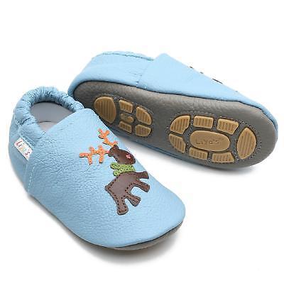 Rapimento Pantofole's Krabbelschuhe Pantofole Liya Baby Scarpe - #672 Alce In Blu Baby- Rinfrescante E Benefico Per Gli Occhi