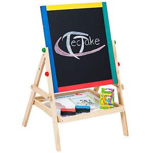 Tableau-d-039-enfant-2-en-1-ardoise-magnetique-chevalet-enfants-crayon