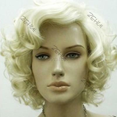 WOMEN BLONDE TEASED CURLY  BOUFFANT WIG~DRAG QUEEN~BIG HAIR~COSTUME~SHOWGIRL