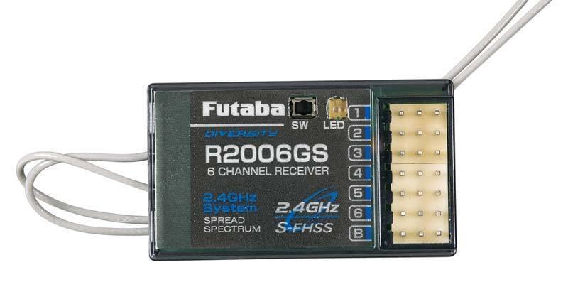 New Futaba R2006GS 2006 R2006 6ch 2.4ghz SFHSS FHSS Receiver RX FUTL7606   8J