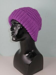 Image is loading PRINTED-KNITTING-INSTRUCTIONS-CHUNKY-BASKET-STITCH-BEANIE- HAT- 311ca67c70a