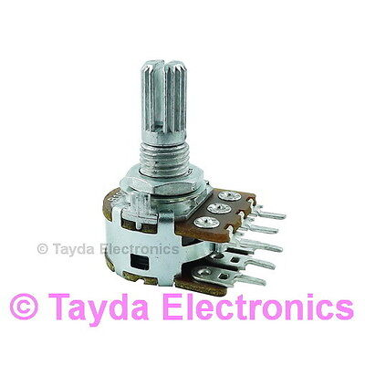 2 x 100K OHM Linear Taper Potentiometer FREE SHIPPING