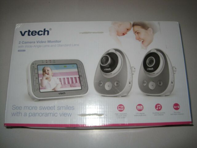 4c99644f2c5ce VTech Vm342-2 Video Baby Monitor With 170-degree Wide-angle Lens for  Panoramic   for sale online