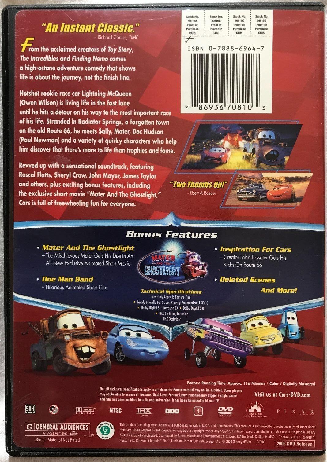 Cars (DVD, 2008)   eBay