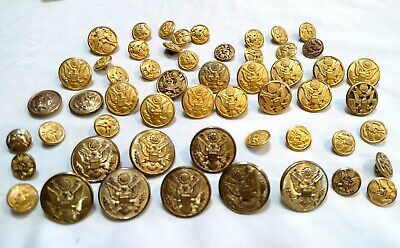 officer buttons Militaria collection gold metal blazer button uniform button 3 vintage french imperial guard buttons costume button