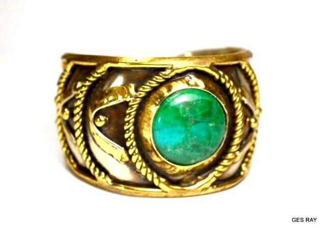 MidCentury Modernist Cuff Bracelet Brutalist Azurmalachite Azurite Silver Brass
