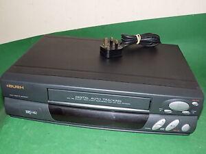 Bush-VCR807-Grabadora-De-Cassette-De-Video-Vhs-Vcr-Inteligente-Negro-Pequeno-totalmente-probado