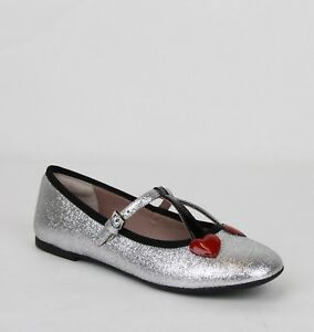 4eed8cce992c Gucci Girl Children s Silver Shimmer Ballet Fabric Flats 31 US 13 ...