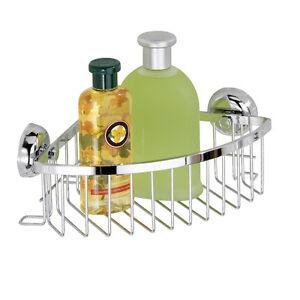 Wenko-Estante-de-esquina-Magic-Loc-cestas-de-ducha-laton-Bandeja-ducha-cromado