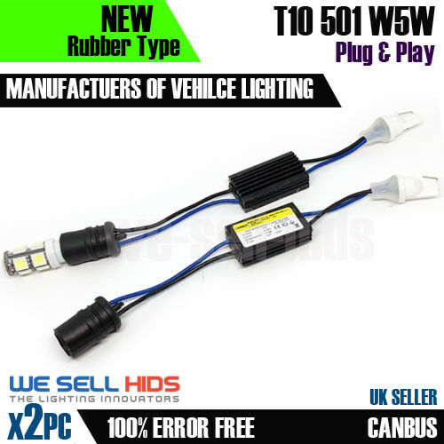 2x LED SIDE LIGHT RESISTOR NO ERROR 501 W5W T10 FREE CANBUS Fiat Punto plate