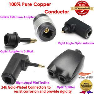 Optical Digital Audio Splitter 2 Way Adapter+3ft Fiber Optic Audio Toslink Cable