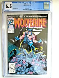 WOLVERINE-1-CGC-6-5-WHITE-PAGES-FIRST-WOLVERINE-AS-PATCH-Marvel-Key-looks-great