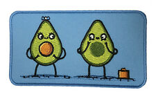Randy Otter Avocado Baby Iron On Patch On Jacket Shirt