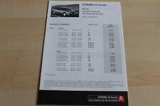 86229) Citroen C5 Kombi - Preise & tech. Daten & Ausstattungen - Prospekt 07/200