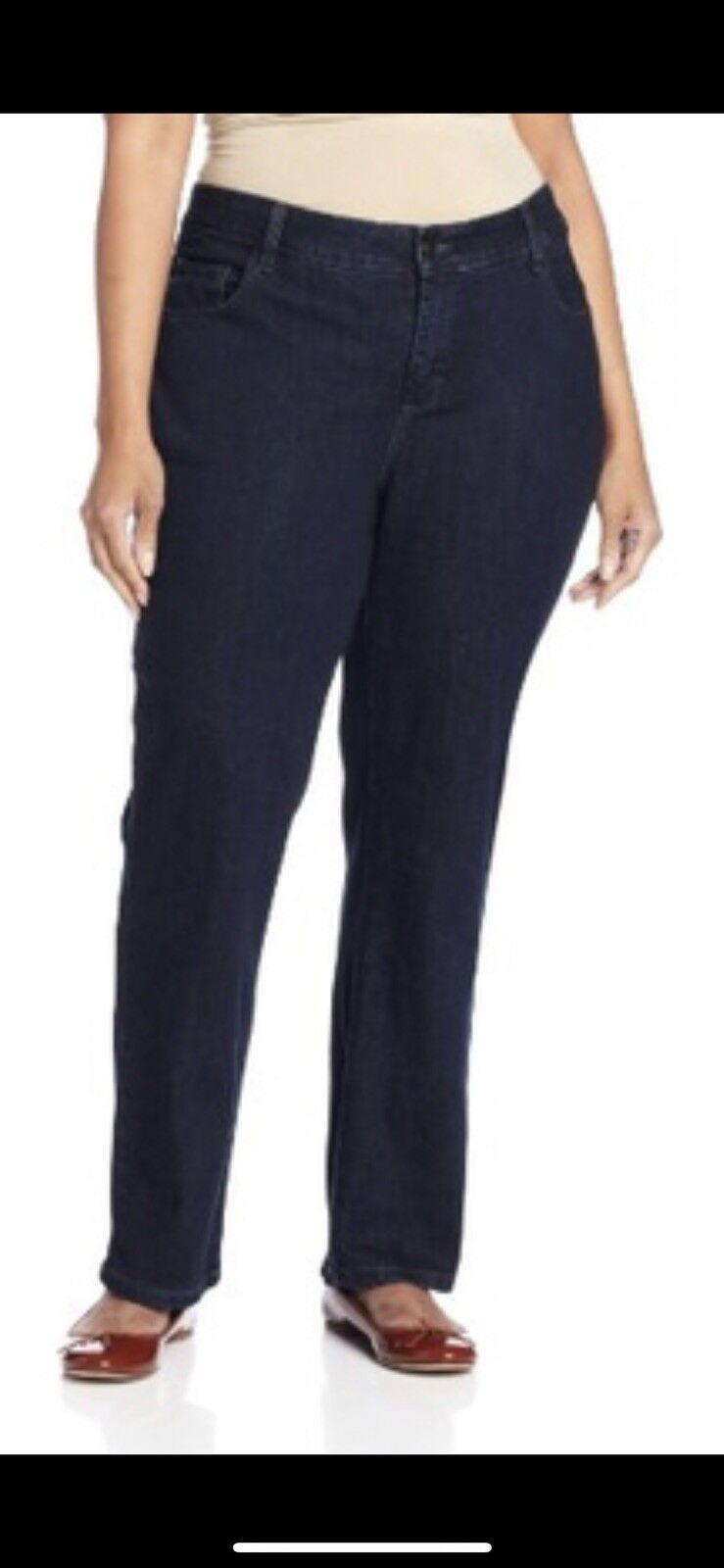 Lee Women's Jeans Petite Horizon bluee Straight Leg Stretch Plus Size 26W NWT