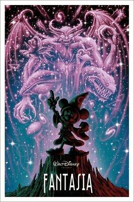 Mondo Poster Fantasia By Jeff Soto Limited Edition Disney Classic Ebay