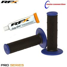 RFX PRO SERIES BLACK / BLUE GRIPS & RFX GRIP GLUE YAMAHA YZ125 YZ250 2000