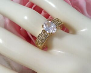 Vintage-Jewellery-Gold-Ring-with-White-Sapphires-Antique-Deco-Jewelry-size-P