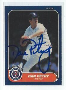 Dan Petry Signed 1986 Fleer Card #235