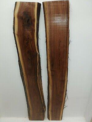 Black Walnut Slabs (Live Edge) River Table Set (thick set ...
