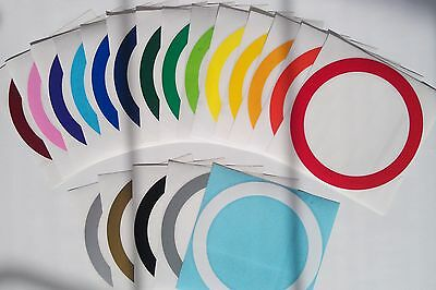 PAIR of 3/4 inch Hole Border Decals Bean Bag Cornhole Baggo Ring Circle Sticker