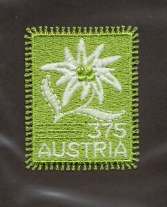 Image Is Loading SCOTT 2019 Austria Embroidered Edelweiss Self Adhesive MNH