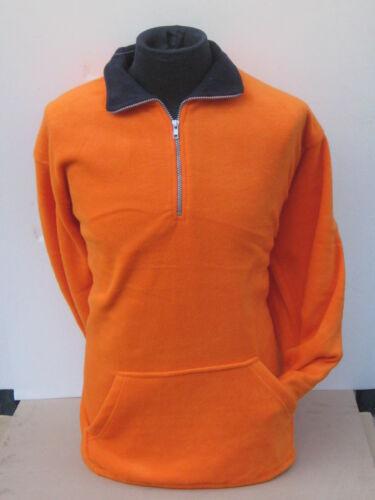Maglia maglione invernale uomo lupetto zip arancione XXXL taglia ACQUAVERDE