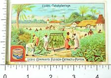 1880's Cuba Industries Tobacco Scenes Liebig Victorian 6 Trade Card Set K83