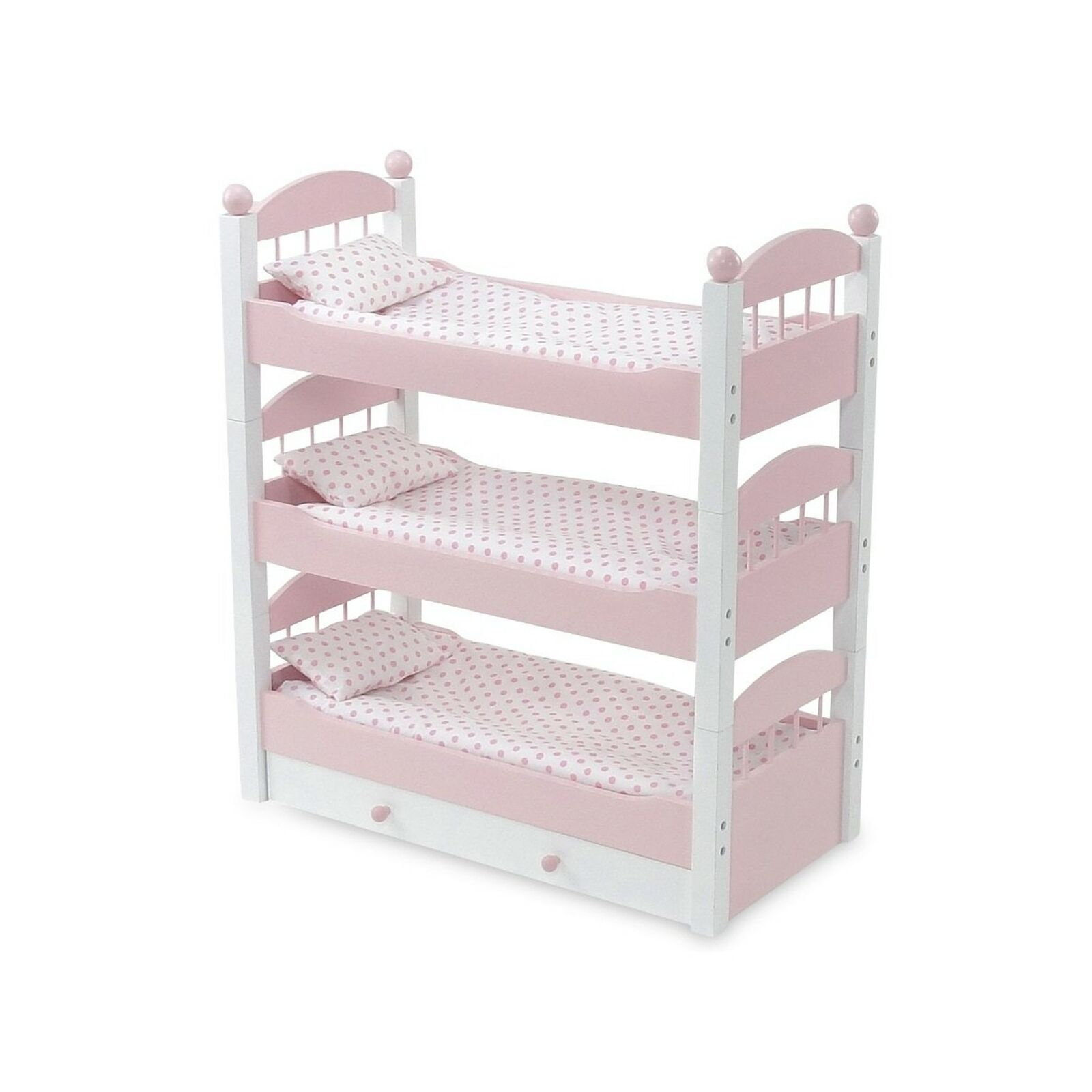 Picture of: Emily Rose 18 Inch Doll Bunk Bed Doll Furniture Doll 18 Triple Bunkbed Inc For Sale Online