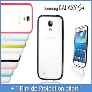 Coque-Etuit-Housse-Bumper-silicone-Samsung-Galaxy-S4-8-couleurs-Film-offert