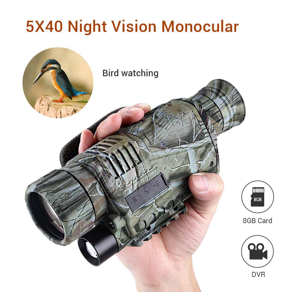 5x40 Infrared Night Vision Monocular Binocular Telescopes Scope Hunting Wildlife