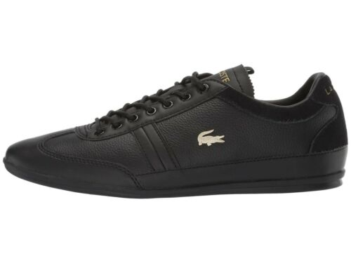 Lacoste MISANO 119 Black Men/'s Leather Lace Up Sneakers 37CMA008302H