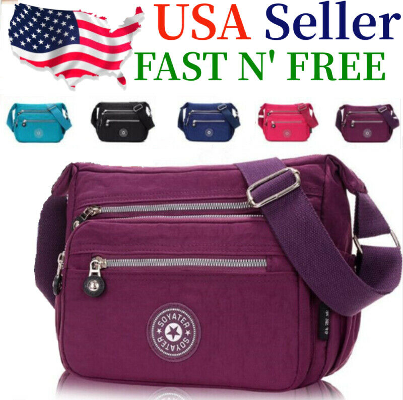 Waterproof Messenger Cross Body Ladies Handbag Bag Shoulder Bag Womens... - s l1600