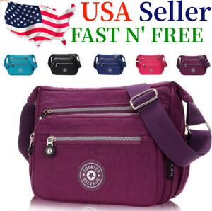 Waterproof-Messenger-Cross-Body-Ladies-Handbag-Bag-Shoulder-Bag-Womens-Purse