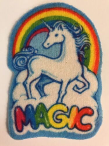 Unicorn Magic Rainbow 1980s iron on sew on patch applique new vintage unicorns