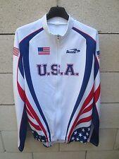Veste cycliste Team U.S.A jacket cycling giacca BIEMME blanc XL 5