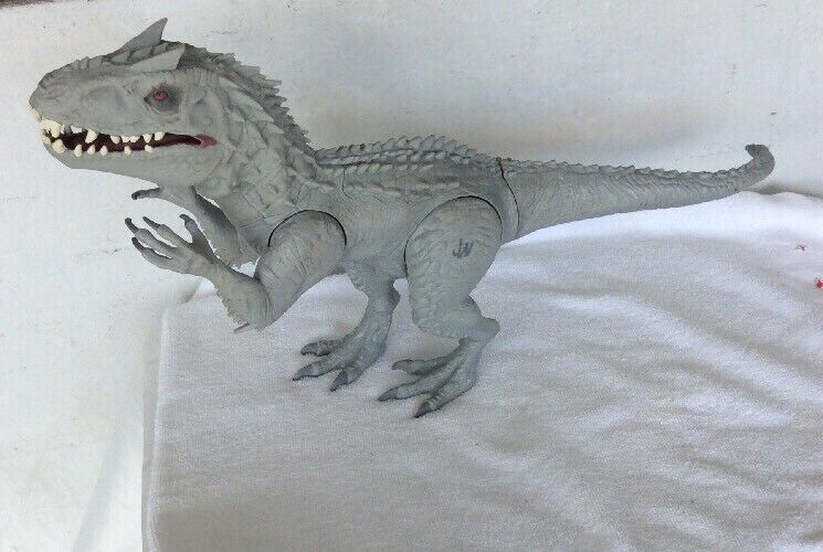 2014 HASBRO JURASSIC PARK WORLD indominus REX DINOSAURE SONORE feux Chomps